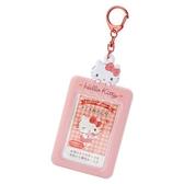 〔小禮堂〕Hello Kitty 造型拍立得收納套鑰匙圈《橘紅》票卡夾.掛飾.演唱會粉絲收納系列 4901610-22026