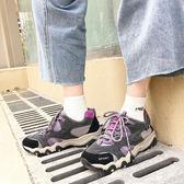 韓國風氣墊運動鞋女跑步學生厚底球鞋【全館免運八五折任搶】