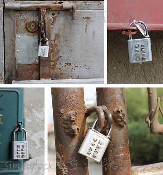 【按鍵密碼鎖金屬10位元】按鍵密碼鎖金屬10位元鎖電鍍色櫃子密碼鎖儲物櫃密碼鎖 NF
