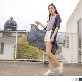 《EA3157-》雪紡質感壓紋反摺袖長版防曬罩衫 OB嚴選