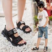 兒童涼鞋男童鞋子2018新款韓版夏季沙灘鞋中大童露趾軟底男孩涼鞋  米娜小鋪