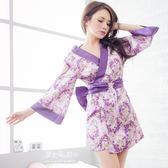 和服 性感角色扮演制服 紫色小露香肩櫻花妹-愛衣朵拉