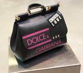 ■2018夏折扣專櫃65折 ■ Dolce & Gabbana 全新真品  BB6002 'Choose Love' 中款西西里兩用包