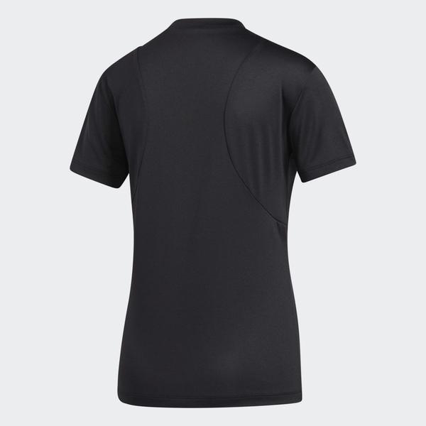 Adidas BOS LOGO 女裝 短袖 慢跑 訓練 T恤 拼接 透氣 弧形下襬 黑【運動世界】FT3078