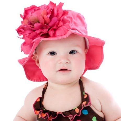 遮陽帽 / 寶寶帽 Jamie Rae  紅底白點紅牡丹 SH-REDD-REDLP