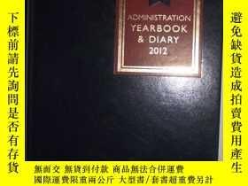 二手書博民逛書店英文原版罕見Administration Yearbook an