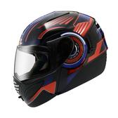 [安信騎士] ZEUS瑞獅安全帽 ZS-3010 ZS3010 AE2 素黑底/黑 可樂帽 內置太陽鏡片