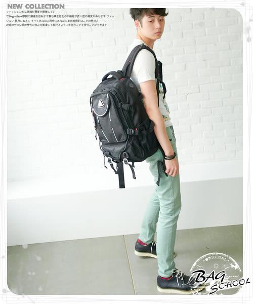 潮流主義功能型雙肩後背包