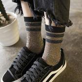【618】好康鉅惠襪子女中筒襪韓版夏季超薄透明水晶襪