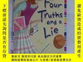 二手書博民逛書店Four罕見Truths and a Lie 英文原版大32開