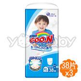 日本大王 GOO.N 日本頂級境內版褲型紙尿布-男生XL38片x3包 (箱購)