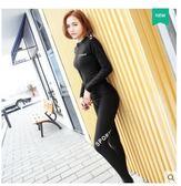 女分體拉鏈長袖長褲防曬保暖新款潛水衣套裝LYH2139【大尺碼女王】