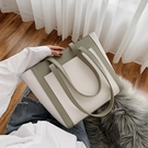 托特包上新高級質感包包女包新款2020韓版時尚撞色大容量百搭側背托特包 JUST M