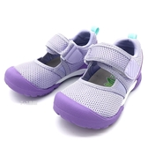 《7+1童鞋》中童 日本月星 MOONSTAR 輕量透氣 運動涼鞋 機能涼鞋 D446 紫色
