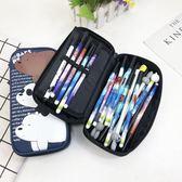 交換禮物-可愛卡通咱們裸熊大容量筆袋正韓男女學生多功能文具收納盒鉛筆袋免運