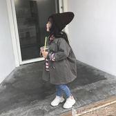 女童外套 女童風衣韓版簡約洋氣中大童休閒外套中長款純棉上衣 寶貝計畫