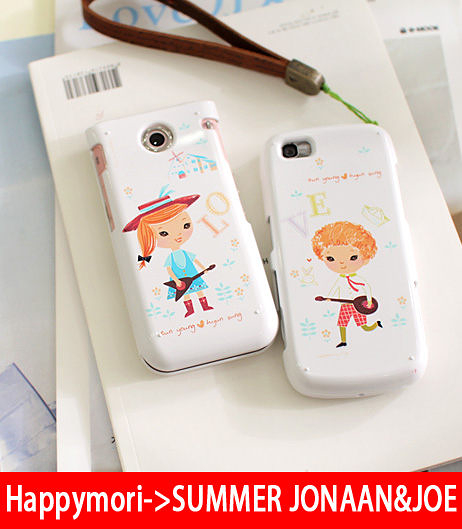 【韓國原裝 Happymori】※Harmony of Love※前殼+ 手機背殼保護殼 適用iphone4S/4 Galaxy S2 i9100