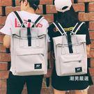 後背包 書包女學生正韓ins背包港風日系雙肩包學院風帆布bf電腦包男情侶