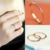 純銀chic極簡約細食尾小戒指女版潮人個性學生冷淡風  99購物節