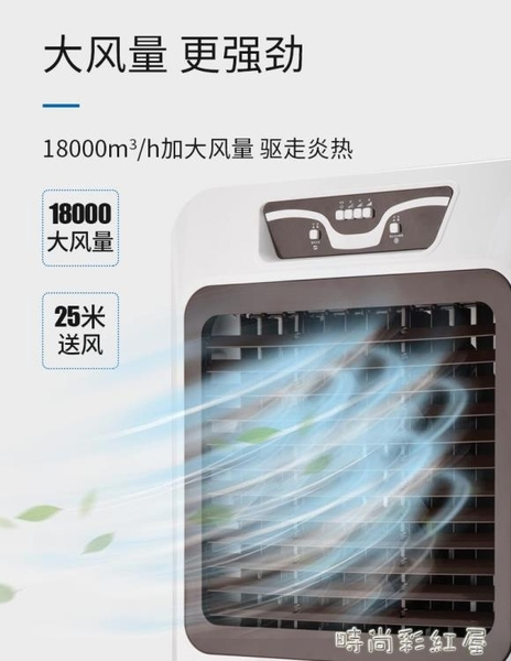 大型工業冷風機制冷風扇廠房水冷空調冷氣扇加水制冷器商用空調扇MBS「時尚彩紅屋」