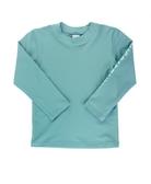 美國 RuffleButts 兒童長袖泳衣 - 藍綠色