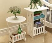 北歐茶幾簡約客廳小圓桌小戶型陽台邊幾臥室床頭櫃簡易創意方桌子『向日葵生活館』