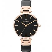 【台南 時代鐘錶 MOCKBERG】瑞典工藝 MO110 北歐極簡風格 SIGRID時尚腕錶 皮帶 玫瑰金 34mm
