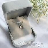 當當衣閣-滄海拾貝精致可打開貝殼S925純銀珍珠項鍊鎖骨鍊禮物女送朋友禮物