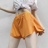 假兩件高腰運動短褲女寬松跑步健身熱褲夏季薄款速乾瑜伽褲防走光 童趣屋  新品