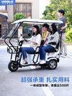 三輪車 電動三輪車成人家用老人代步車接送孩子新款帶棚小型電瓶車 莎瓦迪卡