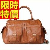 真皮行李袋-多用途可肩背出遊造型男手提包1色59c15【巴黎精品】