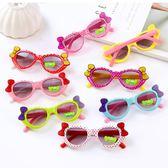 兒童眼鏡墨鏡學生太陽鏡寶寶蝴蝶結遮陽鏡【奇趣小屋】