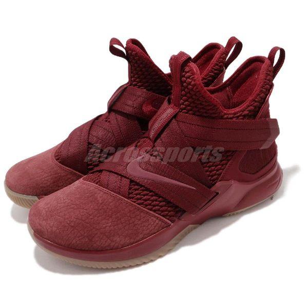 Nike 籃球鞋 LeBron Soldier XII SFG EP 暗紅 士兵12代 男鞋 【PUMP306】 AO4055-600