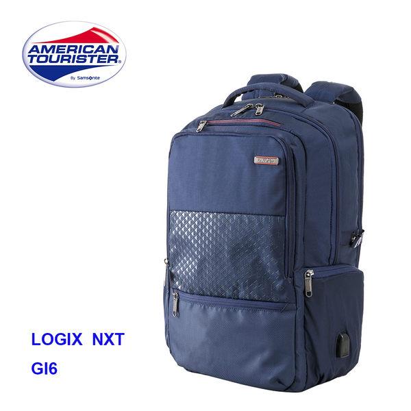 AT美國旅行者【LOGIX NXT GI6】17吋筆電後背包 RFID防盜 減壓背帶 外接USB孔 附筆袋雨套 *002