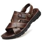 开车穿的凉鞋 新款夏季男士涼鞋真皮休閒沙灘鞋男外穿頭層牛皮涼拖鞋男兩用