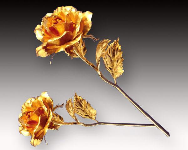 【鹿港窯】情人節禮物【典藏黃金玫瑰花】精緻包裝+緞帶+手提袋