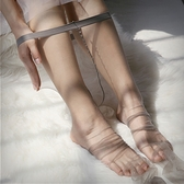 超薄0D透明隱形連褲襪一線襠無痕極薄玻璃透明性感女免脫開襠絲襪 至簡元素