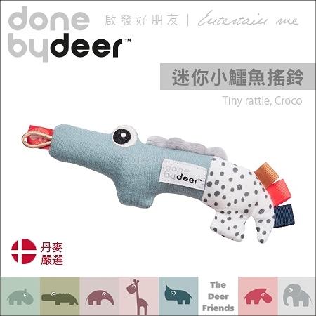 ✿蟲寶寶✿【丹麥Done by deer】啟發好朋友 好抓握 安撫玩具 迷你小鱷魚搖鈴