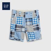 Gap 男幼童 時尚格紋休閒短褲 538108-拼接格子