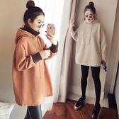 雙十二狂歡購 孕婦裝秋冬裝套裝時尚2018新款韓版寬鬆冬季加絨加厚連身裙