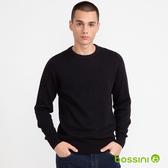 圓領針織衫01黑-bossini男裝
