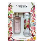 YARDLEY雅麗英國玫瑰女性淡香水禮盒(淡香水50ml+身體噴霧75ml) ★Vivo薇朵