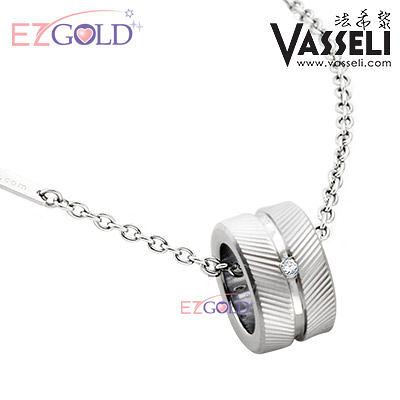 VASSELI ◤愛在倫敦◢ 鎢鋼鑽石墜(男)
