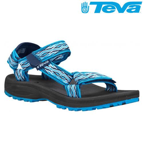 TEVA Kids 兒童款經典織帶水陸運動涼鞋Hurricane 2 - 海浪藍(大童)