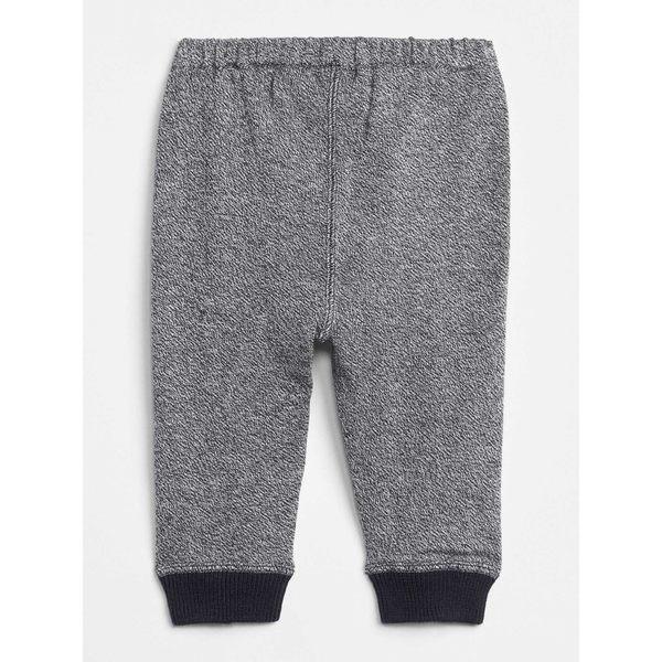 Gap男嬰兒 布萊納小熊刺繡混色針織束口運動褲 348531-海軍藍色
