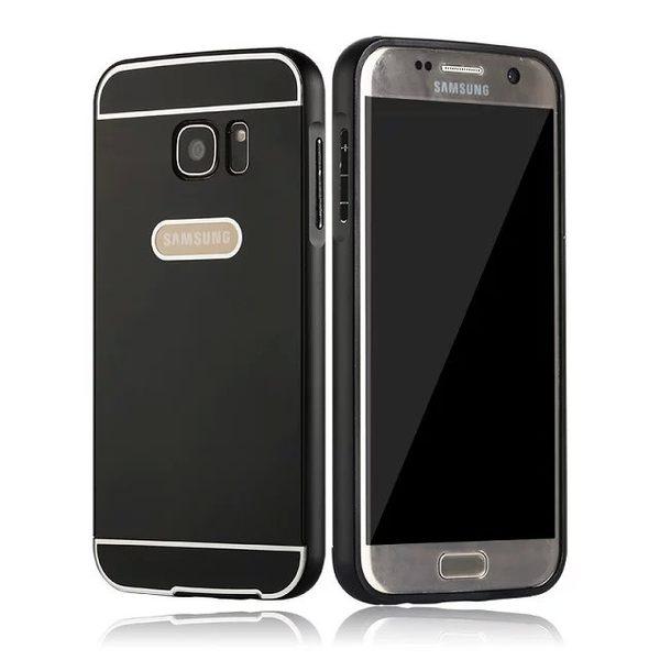 三星Calaxy S7金屬殼 金屬邊框+壓克力背板二合一 S7 Edge 保護殼 G9300 PC背蓋 G9350 手機套