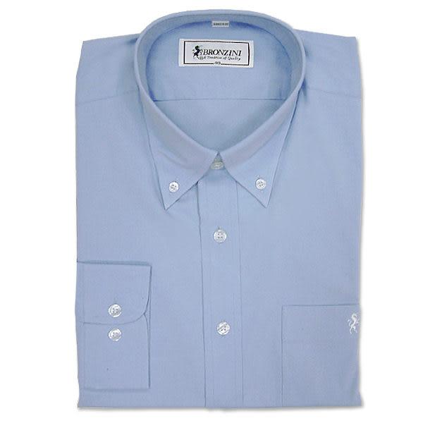 BRONZINI UNICORN襯衫-經典型(NEW YORK)-藍色-彈性素色-6496518-546
