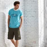 【JEEP】創意圖騰T恤-藍色