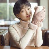 促銷款麂皮絨手套女士冬季保暖加絨刷毛加厚觸屏冬天戶外防滑手套交換禮物