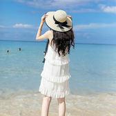 小清新綁帶遮陽帽子女夏海邊沙灘帽 東京衣櫃